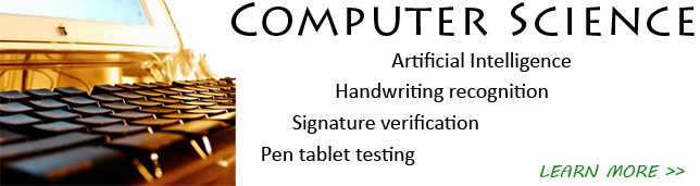 signature verification, handwriting recognition, pen tablet tests